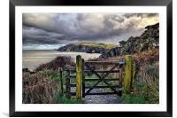 Sandy Cove, Lee Bay, North Devon, Framed Mounted Print
