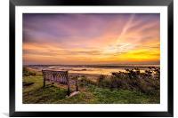 Sunrise on the River Taw Estuary, Framed Mounted Print
