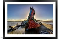 Wreck, Framed Mounted Print