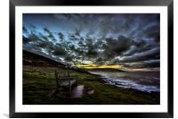 Croyde Bay daybreak., Framed Mounted Print