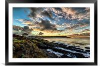 Just before sunrise at Croyde Bay, Framed Mounted Print