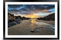 Barricane Beach, Woolacombe, North Devon., Framed Mounted Print