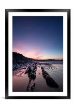 Saunton Sands sunrise, Framed Mounted Print