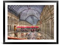 GUM Red Square, Framed Mounted Print