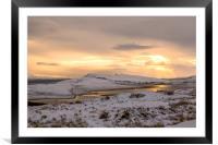 Snow Covered Trotternish Ridge Toward Sundown, Framed Mounted Print