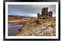 Ardvreck Castle in The Snow, Framed Mounted Print