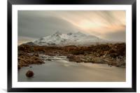 Sgùrr nan Gillean and The River Sligachan Skye, Framed Mounted Print