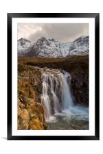 Fairy Pools Waterfall, Isle of Skye, Framed Mounted Print
