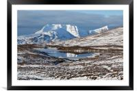 Ben More Coigach and Clar Loch Mor, Framed Mounted Print