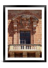 Baroque Balcony, Framed Mounted Print