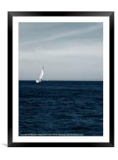 Lone Yacht, Framed Mounted Print