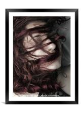 Wrapped in Curls, Framed Mounted Print