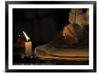 Candlelight &  Quill, Framed Mounted Print