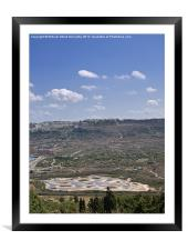 Ghadira Nature Reserve, Framed Mounted Print