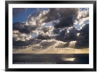Mediterranean Twilight, Framed Mounted Print