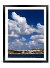Mgarr Harbour, Framed Mounted Print