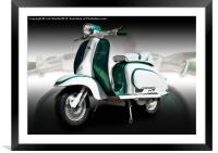 Mod scooter, Framed Mounted Print