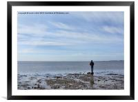 Looking out at low tide, Framed Mounted Print