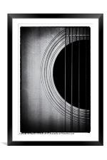 Guitar Film Noir, Framed Mounted Print