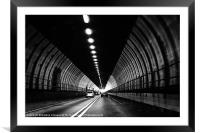 Dartford Crossing Tunnel, Framed Mounted Print