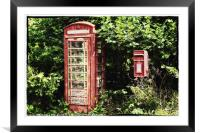 Old Red Telephone Box Old Red Letter Box, Framed Mounted Print
