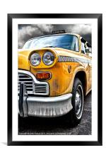 New York Yellow Cab, Framed Mounted Print