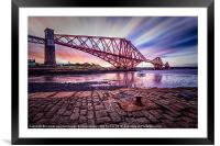 Forth Rail Bridge colour, Framed Mounted Print