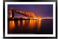 Forth Rail Bridge colour sunrise, Framed Mounted Print