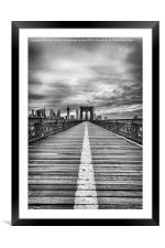 The road to tomorrow, Framed Mounted Print