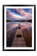 Old Jetty Across the water, Framed Mounted Print