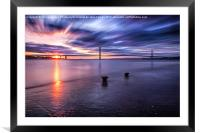 Canvas print forth bridge, Framed Mounted Print