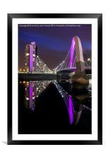 Clyde Arc Glasgow, Framed Mounted Print