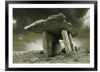 Poulnabrone Dolmen, Clare, Ireland, Framed Mounted Print
