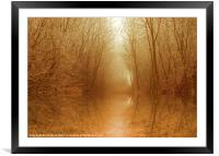 Magical Autumn Pool, Framed Mounted Print
