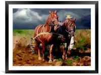 Plough Horses, Framed Mounted Print