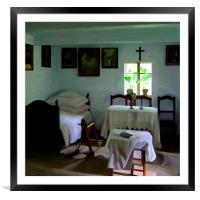 Cottage Room, Framed Mounted Print