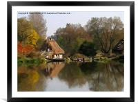 Cottage on the Lake, Framed Mounted Print