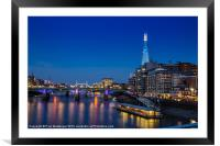 Shard View, Framed Mounted Print