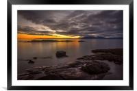 Arran Sunset, Framed Mounted Print