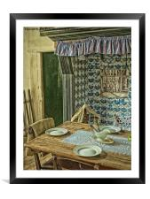 the old kitchen, Framed Mounted Print