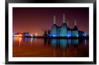 Battersea Power Station 2, Framed Mounted Print