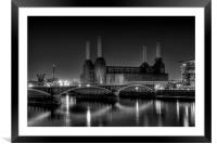 Battersea black and white, Framed Mounted Print