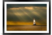 talacre storms, Framed Mounted Print