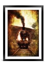 steam engine 5643, Framed Mounted Print