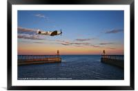 spitfire at whitby, Framed Mounted Print