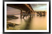 Down Below the Jetty, Framed Mounted Print