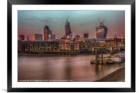 Days End in the City, Framed Mounted Print