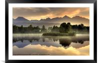 Slovakian Dawn, Framed Mounted Print