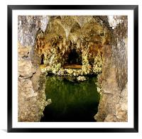 Deep into the grotto, Framed Mounted Print