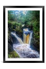 Triple Pecca Falls, Framed Mounted Print